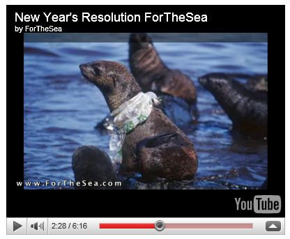 You tube screen shot - seal with plastic bag around neck