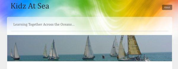 Screenshot of Kidz At Sea blog