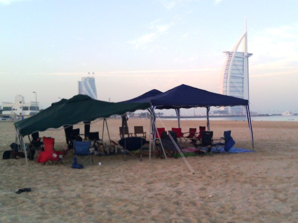 Gazebos on Jumeira Beach
