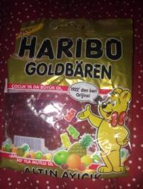 Empty Gummy bear packet