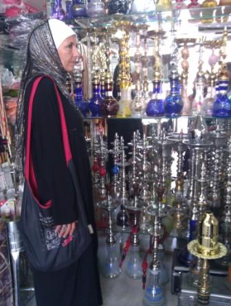 Bahiyya in Shisha pipe shop