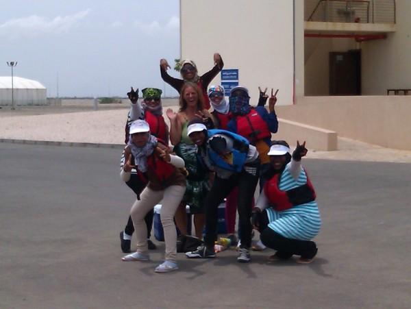 Omani ladies in buoyancy aids