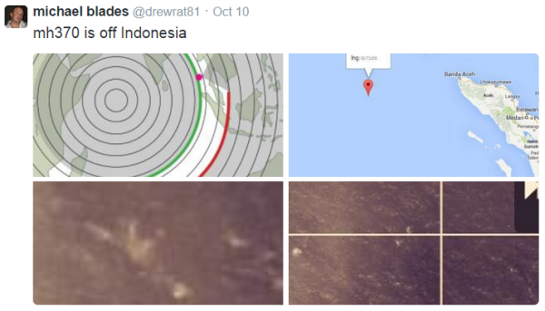 Michael Blades: Location of wreckage West of Bandeh Aceh.