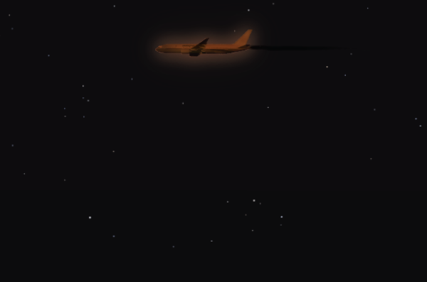 Graphic illustration of the plane I saw [pending correction to remove logo]